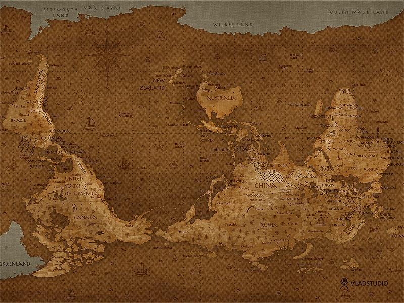 世界地図逆さ1