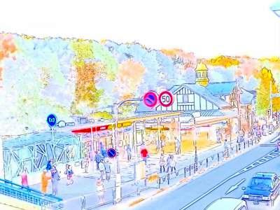 原宿駅_スケッチ