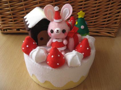 フェルトのクリスマスケーキ