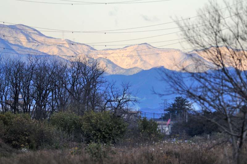 降雪な山々