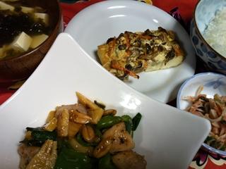 鶏肉とピーナツの炒め物