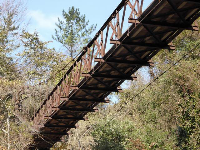 板谷川の吊橋7