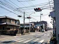 上町辺りの三差路交差点