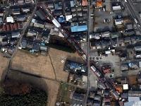 武州鉄道跡航空写真