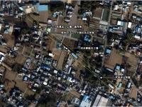 平林寺周辺の廃線跡航空写真