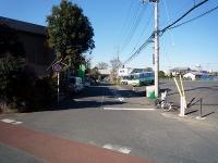 廃線跡の道路