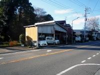建物が斜めに建っている蓮田方向