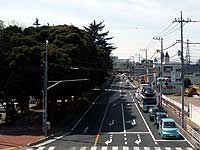 愛宕交差点から望む県道上尾環状線