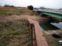 掛樋井史跡公園 橋台、翼壁