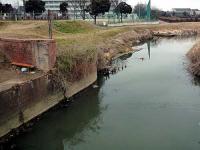 掛樋井史跡公園 樋の固定跡