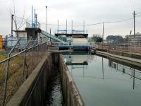 代用水路と放流工