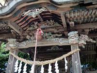 旧八幡神社本殿の彫刻