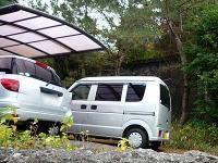 磐崎鉱本坑前の駐車場