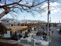 松山寺 墓地と勿来駅