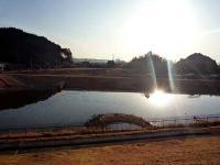 貯水池と発電所