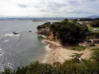三崎潮見台からの海岸線