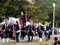 静岡市袋井市「梅山八幡神社の流鏑馬」