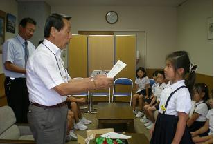 館長賞の西崎さん おめでとう・・・