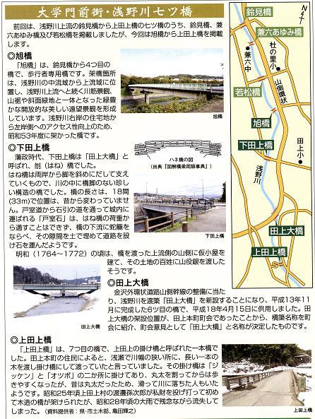 新七つ橋渡りの地図と説明です。