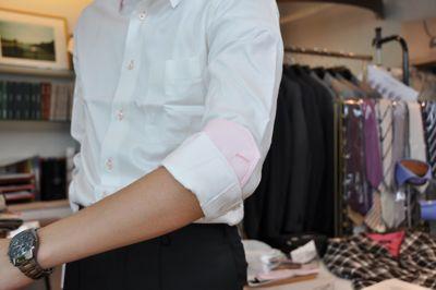 シャツ袖4
