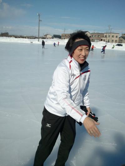 聖子さんが恵庭でスケート指導