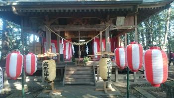 地元神社のお祭りお囃子1