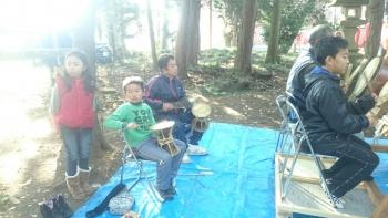 地元神社のお祭りお囃子2