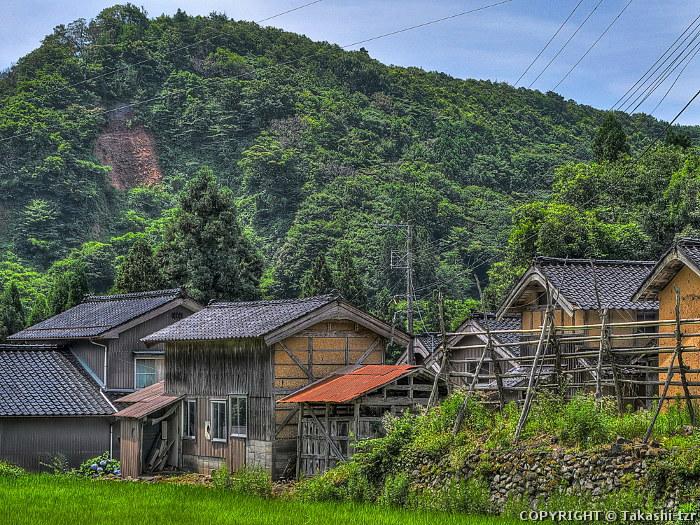 佐渡西三川の砂金山由来の農山村景観1