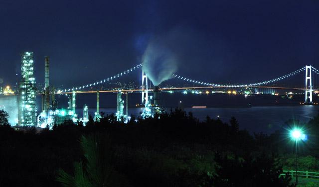室蘭工場夜景2010・10