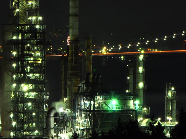 室蘭工場夜景拡大2010・10