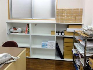 事務所の整理棚