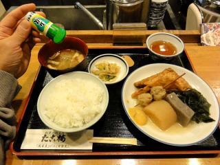 たこ梅 東店 のお昼の関東煮(おでん)定食