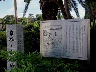 京橋側魚市場跡の由緒書