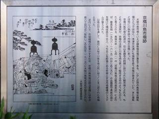 京橋川魚市場由緒書2