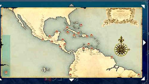 カリブ地図