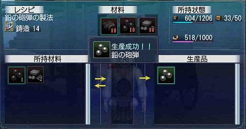 鉛の砲弾生産