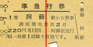 """38-9-8阿蘇準急券"""""""