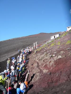 登山道混雑状況