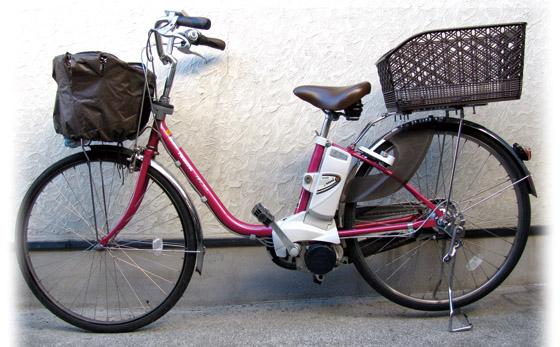 年賀状素材『電動自転車』