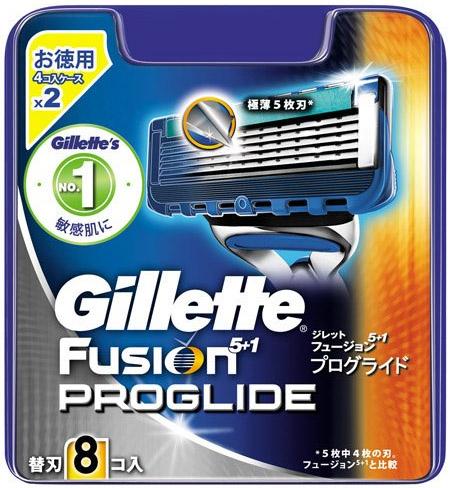 Gillette Fusion PROGLIDE替刃8個入り