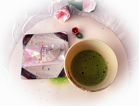 花びら餅&お抹茶