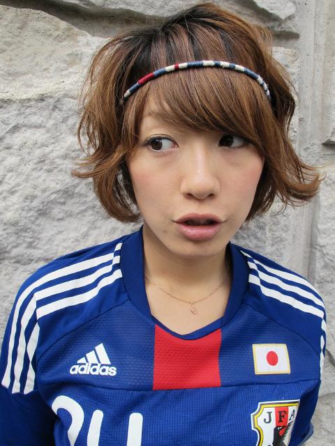 川澄奈穂美のヘアバンド なでしこジャパン 川澄 鮫島