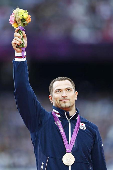 ロンドン五輪 オリンピック 2012 室伏広治 室伏 画像 写真 金メダル 銅メダル