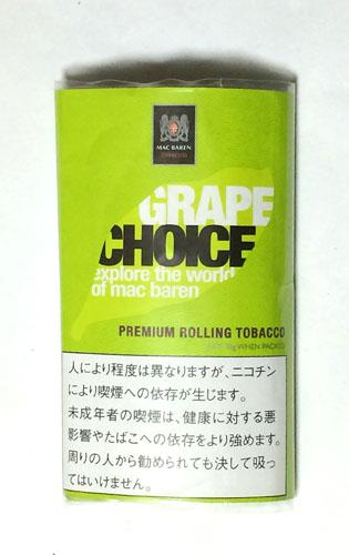 CHOICE_GRAPE CHOICE MAC_BAREN チョイス・グレープ チョイス マックバレン フレーバーシャグ グレープ 手巻きタバコ RYO
