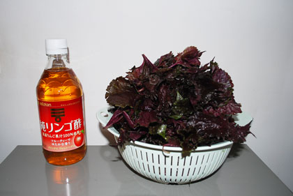シソ酢作り方-1