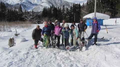 東山ランニングコースから東山自然園を回るスノーシュートレッキング