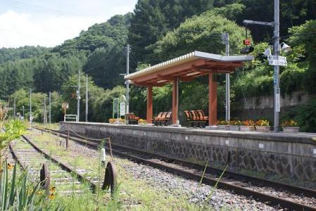 信濃川上駅ホーム