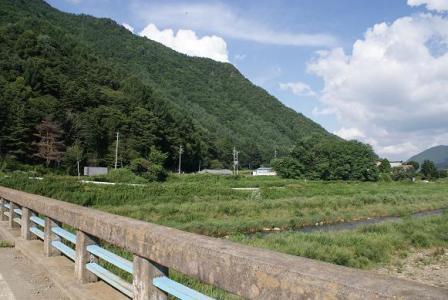 男橋で千曲川を渡る