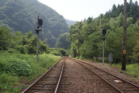 わたらせ② 003神戸駅付近の線路