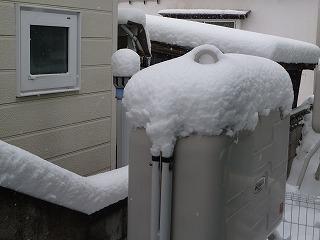 2014年12月灯油と雪